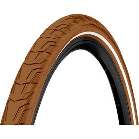 """Continental Ride City Clincher Tyre 28x1.40"""" Reflex E-25, brown"""